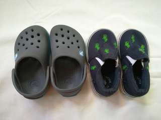 Crocs and Ralph Lauren shoes for Baby Boys