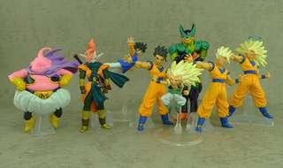 日本空運原裝正貨初版新淨中古套裝 龍珠 Dragonball Z HG figure part (HG17)ドラゴンボールZ17 集え超戦士!復活の魔人ブウ編(2008年4月)