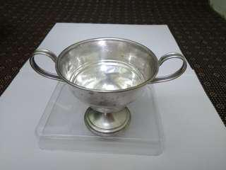 US Antique 1892 Sterling Silver Suger Bowl, ELGIN SILVERSMITHS CO INC, 8.0cm dia, 7.7cm tall, 73.91g, 美國古董純銀糖罐/碗/杯 (實用+裝飾擺設)   www.silvercollection.it/AMERICANSILVERMARKSE.html  ringo77511@yahoo.com