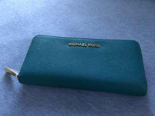 Michael Kors 長銀包 wallet 湖藍色