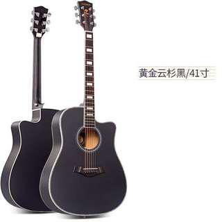 高級雲杉民謠吉他41吋