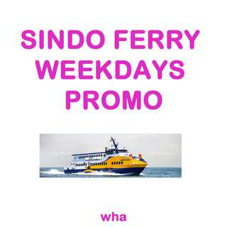 🚚 SINDO FERRY E-Tickets with Special Price - Weekdays Promo