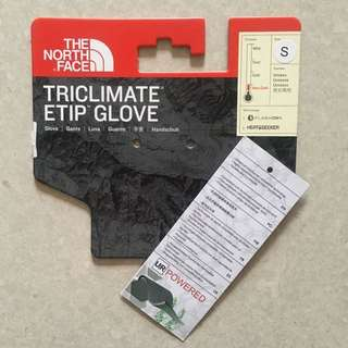 Authentic The North Face UNISEX Triclimate® Etip™ Gloves (size S) Black