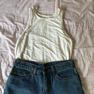 SALES White racer back top