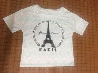 粉藍巴黎鐵塔上衣