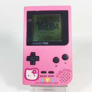 Limited Edition!! Game Boy Pocket Hello Kitty Released in Japan Christmas 1997 (GBP_01-0517-71)