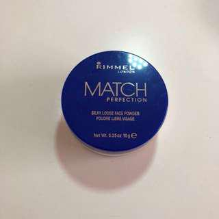 rimmel match perfection powder