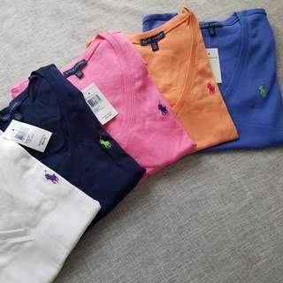 (特價)Polo Ralph Lauren 女裝V領短袖tee 內衣 打底衫