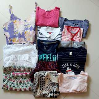 Bundle of used girl clothings