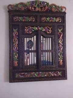 Colourful wall mirror