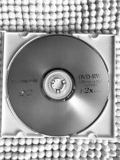 Empty DVD -RW / 4.7GB / Panasonic
