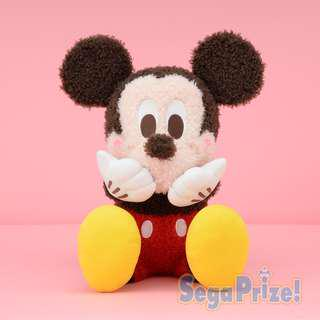 ✨米奇老鼠面紅紅捧面大公仔 Mickey Mouse - Mega Jumbo Red Cheek Fluffy Plushy ✨日本直送🇯🇵