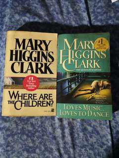 Mary Higgins Clark books (Set of 2)