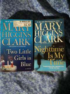Mary Higgins Clark books (set of 2) 2