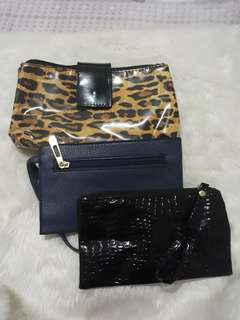make up bag and wristlet bundle