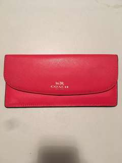 Red Coach Wallet/Purse