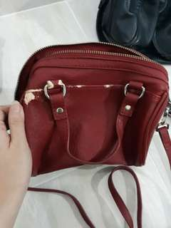 Stradivarius red bag