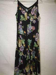 Maxi Black Floral Dress