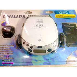 Philips Magnavox Portable CD Player + Headphones Adapter + Car Kit AZ7331 NEW!