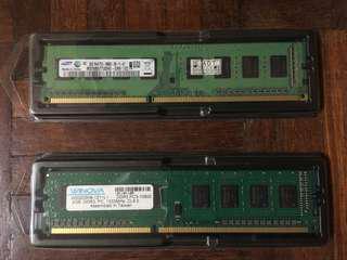 Desktop Ram 2gbx2 DDR3 pc3-10600