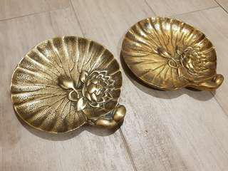 Brass Lotus Flower Plate