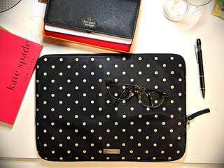 ✨Authentic Kate Spade Classic Nylon Mini Pavilion Dot Laptop Zip Sleeve✨
