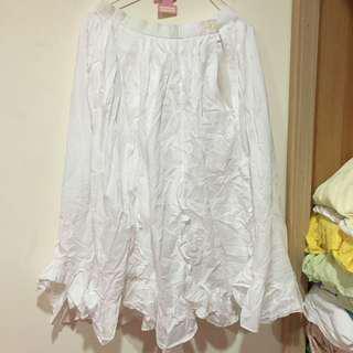 🚚 古著 白色蕾絲襯裙