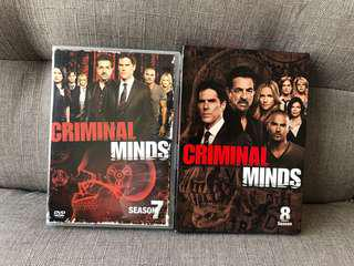 Criminal Minds DVDs (Season 7 & 8)