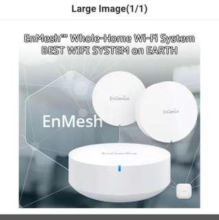 Brand new Engenius Mesh wifi system. Opened up. Sold separately as single unit. 2 units left. Not Google mesh. Ready stock.