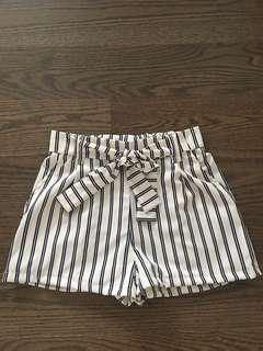 Striped shorts -Small