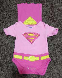 SuperGirl Baby Rompers