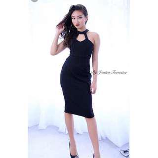 Q boutique halter dress