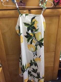 Zaful cute open back Lemon dress