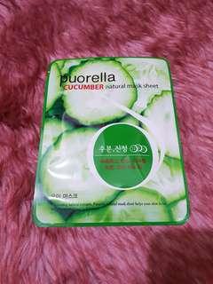 Puorella Sheet Mask Cucumber