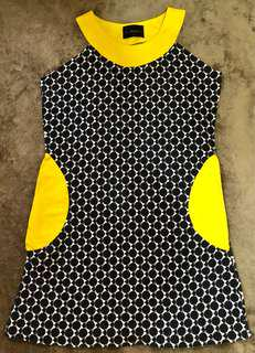 FAITH HOPE LOVE BLACK & YELLOW DRESS