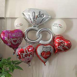 Helium Balloons Wedding Proposer Balloons