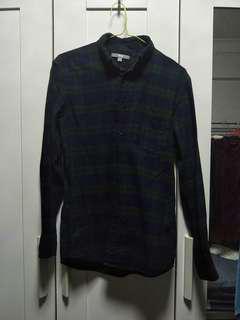 🚚 🌸 uniqlo blue & green flannel