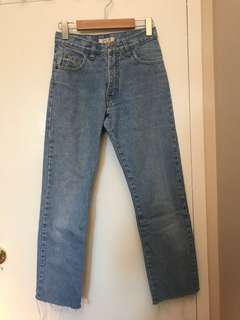 Garage high waisted vintage jeans look