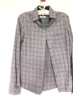 Simple Checkered Grid Shirt