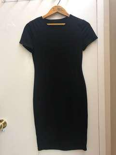 Black dress w no brand xs