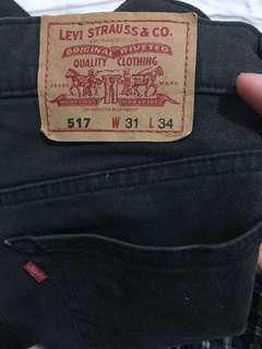 (可換物)Levi's 517 窄版工作褲 加工改縮口 W31
