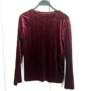 Velvet Maroon Long Shirt