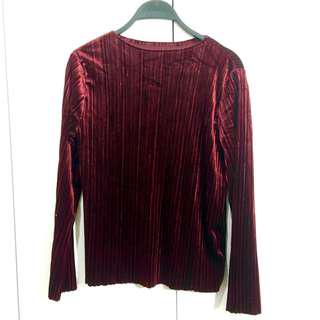 Velvet Maroon Long Shirt