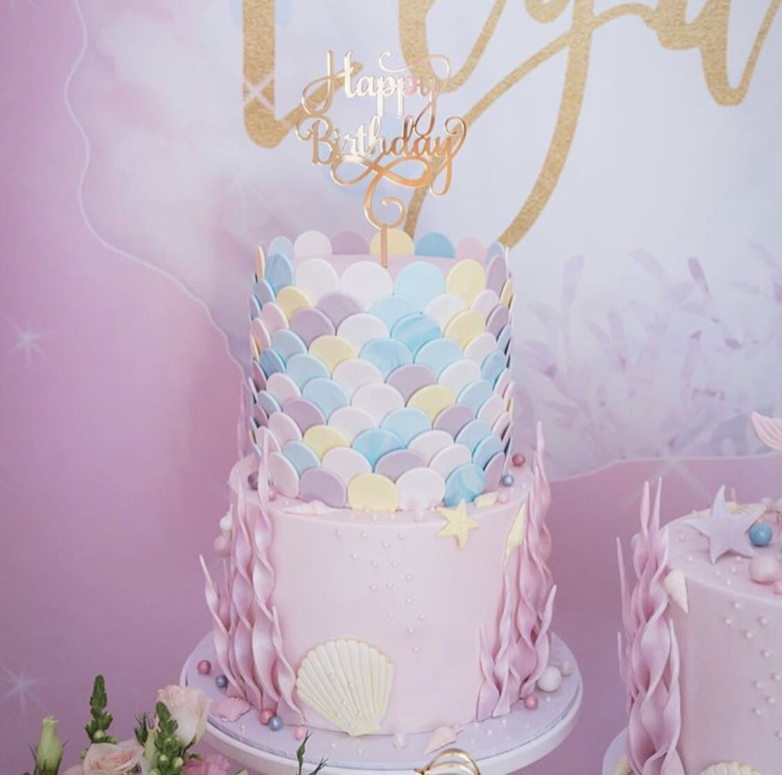 2 Tier Mermaid Birthday Cake For Little Princess Food Drinks