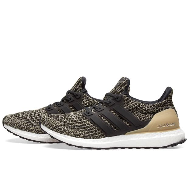 bcadf715e Adidas Ultra Boost 4.0 Black   Raw Gold