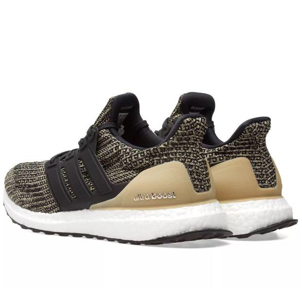 low priced 2de45 ffdac Adidas Ultra Boost 4.0 Black & Raw Gold, Men's Fashion ...