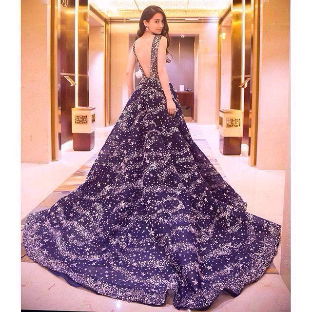 👭Angelababy Galaxy Ball Gown (RENTAL), Women\'s Fashion, Clothes ...