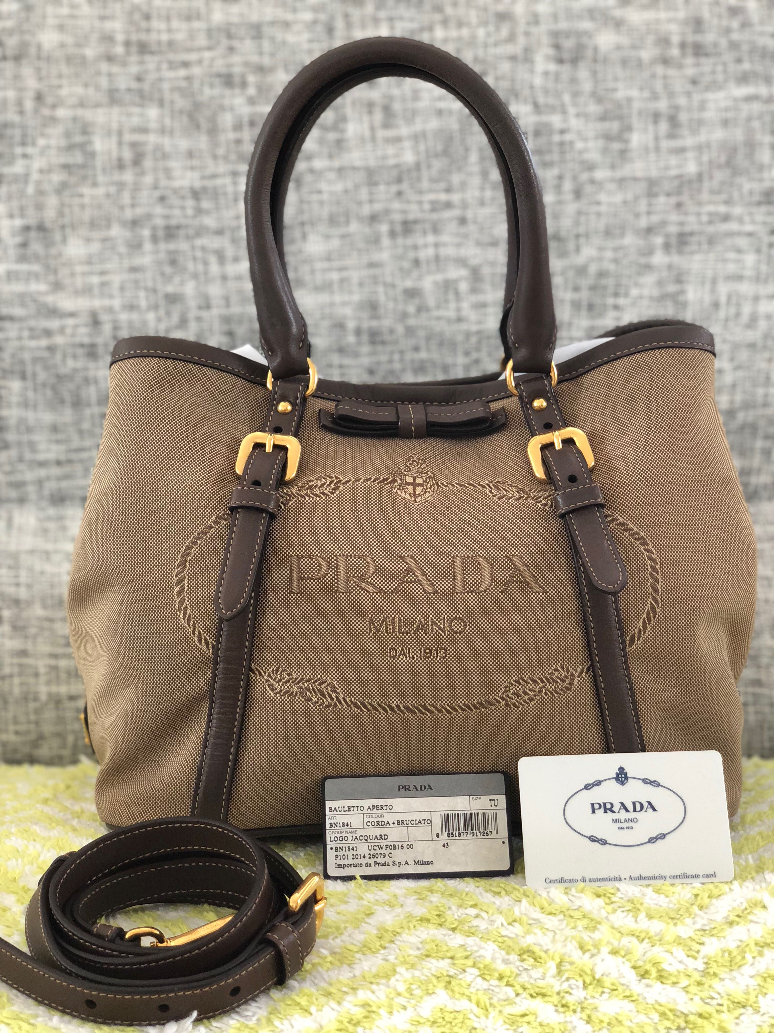 d3f239a70ef5 ... denmark authentic prada jacquard logo 2 way bag luxury bags wallets  handbags on carousell 8fdfa 47d02