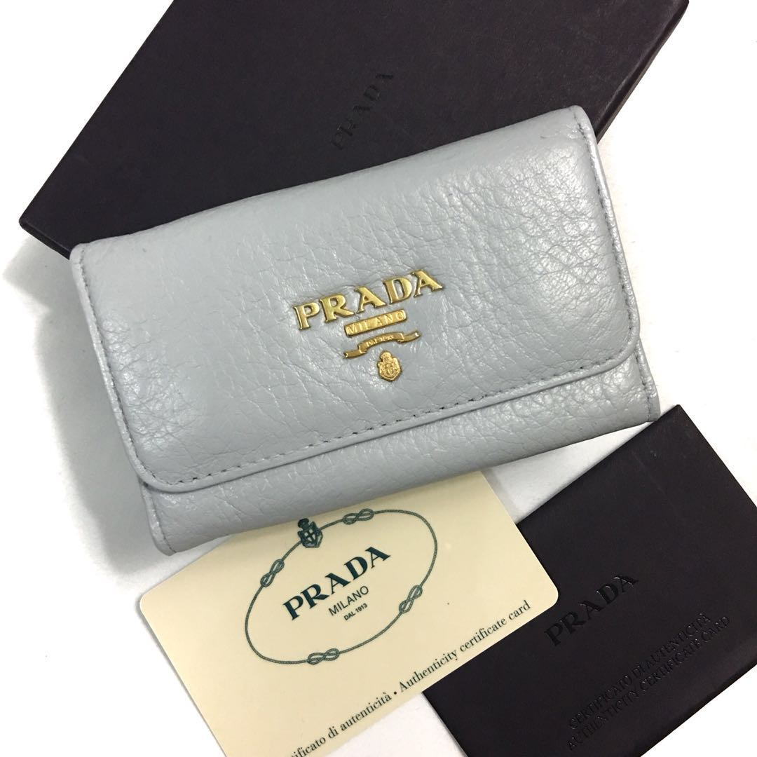 de50d9b97a9be6 Authentic Prada Key Holder Leather Wallet, Luxury, Bags & Wallets ...