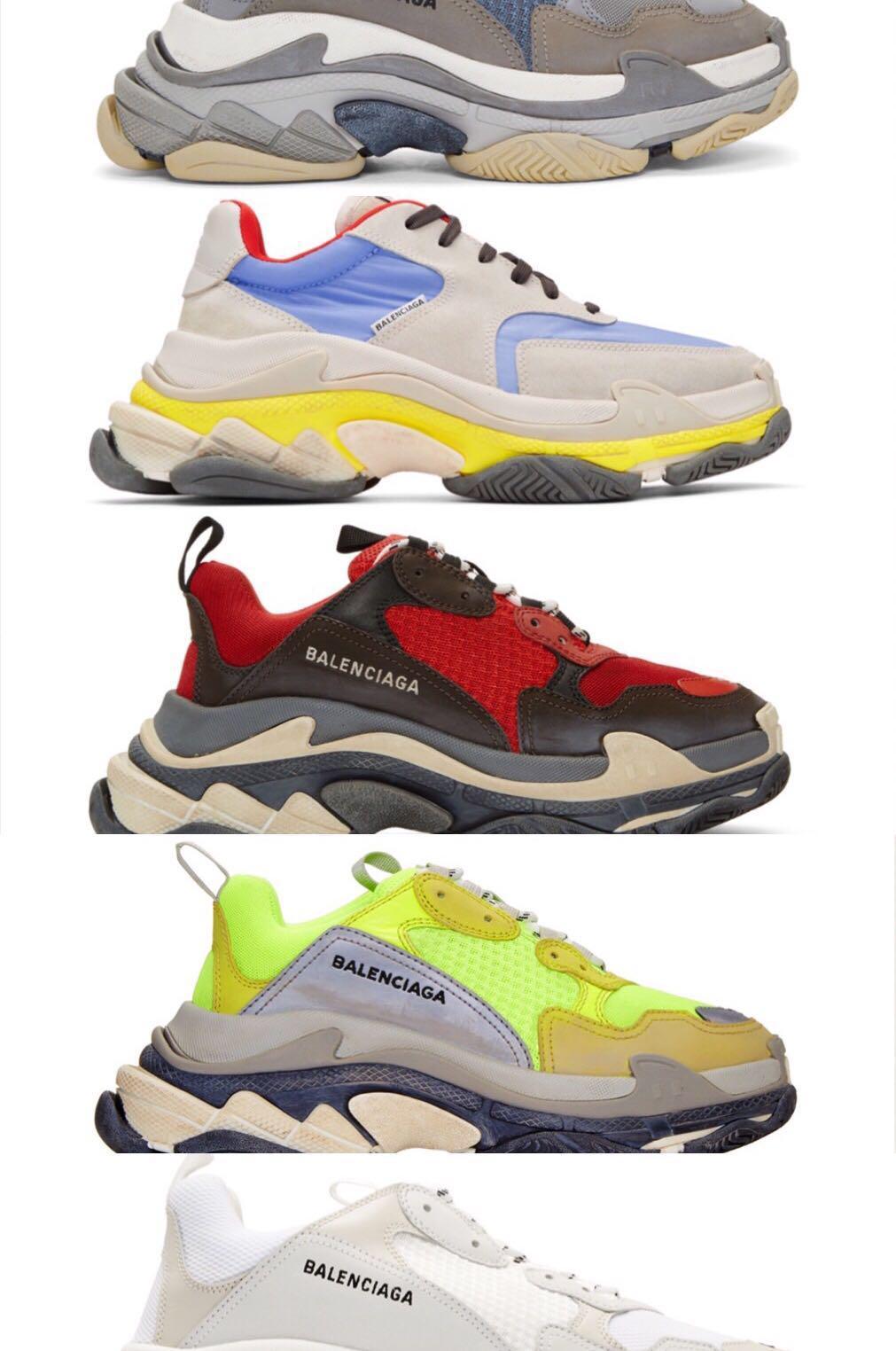 Balenciaga Triple S Neon Unisex Daddy Grün Vintage Schuhe
